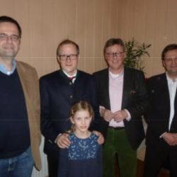 MGB mit dem Vorstand der CDU-Elbmarsch und dem jüngsten Gast der Veranstaltung